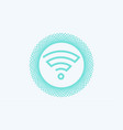 wifi icon sign symbol vector image