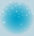 winter pattern with crystallic snowflakes vector image vector image