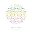 Colorful ogee horizontal striped circle decor vector image
