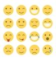 Emoji faces icons vector image