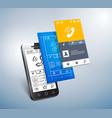 mobile development vector image