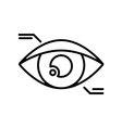 Symbol of Eyetap Augmentation Thin line Icon of vector image