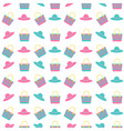beach bag hat pattern vector image