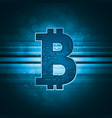 bitcoin crypto currency sign vector image