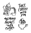 coffee set collection vector image
