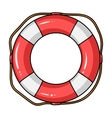 Lifebuoy icon in cartoon style isolated on white vector image