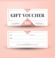 abstract gift voucher card template modern discou vector image vector image