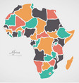 africa continent map with states vector image vector image