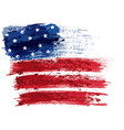 american flag painted with a brush vector image