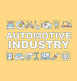 automotive industry word concepts banner