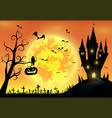 backgroundfestival halloweenfull moon on dark nigh vector image vector image