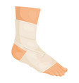 bandaged foot icon medicine and injured patient vector image vector image