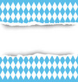 bavaria flag ripped paper seamless pattern vector image