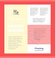 beach business company poster template with place vector image