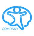 brain man logo vector image vector image