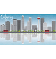 Calgary Skyline with Gray Buildings Blue Sky vector image vector image