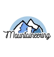 Color vintage mountaineering emblem vector image vector image
