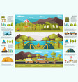 colorful traveling camping infographic template vector image vector image