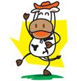 Cowboys Cow vector image