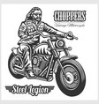custom motorcycles club badge or label with biker vector image vector image