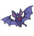 cute happy vampire bat vector image vector image