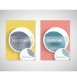 Dirty circles with text on brochure for your ideas vector image vector image