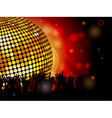 Disco ball and crowd vector image