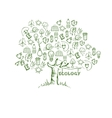 Ecology Tree Infographics vector image vector image