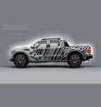 editable template for wrap suv with bar code lines vector image vector image