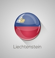 European flags set - Liechtenstein vector image vector image