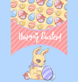 festive easter poster vector image vector image