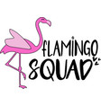 flamingo squad on white background vector image vector image