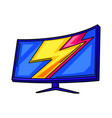 gaming monitor cyber sports vector image vector image