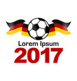 germany football sport icon emblem vector image