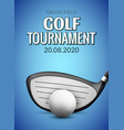 golf tournament poster template flyer golf ball vector image vector image
