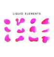 gradient iridescent shapes set vector image
