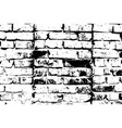 grunge old brick texture black and white vector image