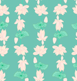 Hand drawn background of Beautiful lotus flowers vector image vector image