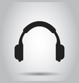headphone icon earphone headset sign business vector image vector image