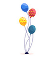 holiday greeting with colorful balloons vector image