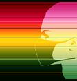 human wearing a medical mask vector image vector image