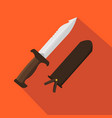 hunter knife flat and cartoon style vector image vector image