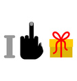 I hate birthday Fak and gift Red ribbon and vector image vector image