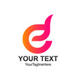 initial letter e logo template colorful tuft vector image vector image