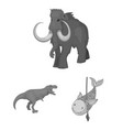 isolated object of animal and character icon set vector image