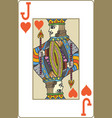 jack of hearts playing card vector image vector image