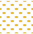 lady crown pattern seamless vector image vector image