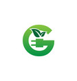 letter g green eco energy logo vector image