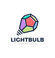 light bulb as an idea concept in polygon style vector image