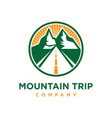 logo mountain trip vector image